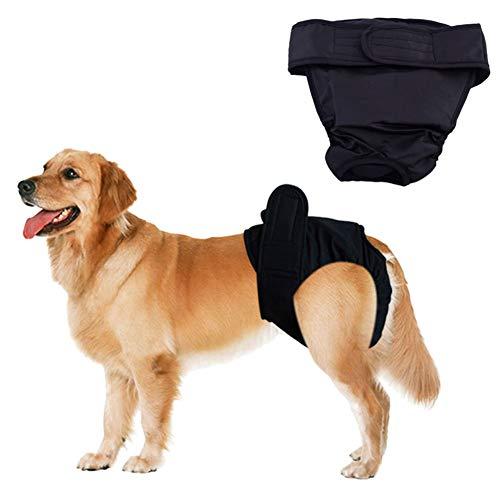 Gofeibao Hundewindel Hundewindeln RüDe Hunde Periode Hosen Hygienehosen für Hunde Windel Hündin Hund Windeln weiblich klein Windel Black,M