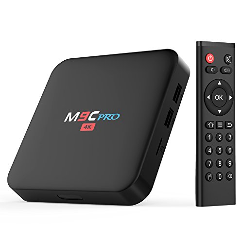 Bqeel M9C Pro Android 6.0 TV Box/ 2.4GHZ WIFI/ 4K TV/Amlogic Quad-core Speed/ [1G/8G] 10/100M LAN Support Ultra-Fast Smart TV Box