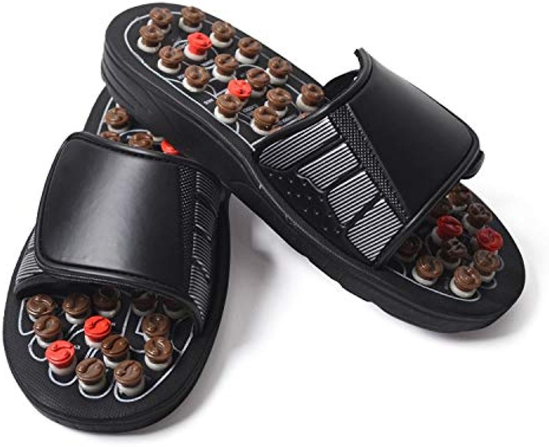 TXHLKD Massage Slipper shoes Men Summer Slipper acupoint Healthcare Slipper Health redating Accupressure Foot Slippers for Men