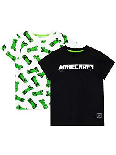 Mincraft Camiseta de Manga Corta Paquete de 2 para niños Multicolor 6