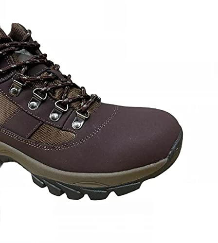 Pretty T Things Men,s Lightweight Casual Walking and Hiking Boots - Water Proof Memory Foam Ankle Boots Warm Outdoor Walking Shoes - UK Size 7-12 (Brown Suede, Numeric_9)