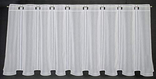 Tenda della finestra in semplici ottica altezza 45 cm | Può scegliere la larghezza in segmenti da 15,5 cm, come vuole | Colore: Bianco | Tendine cucina