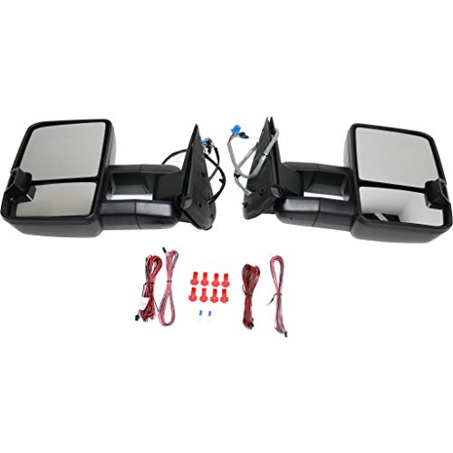 Buy Bargain For Chevy Silverado 3500 Mirror 2003 04 05 2006 Passenger & Driver Side Manual Folding | Power | Heated | Towing | w/Signal Light | Textured Black | 15904035