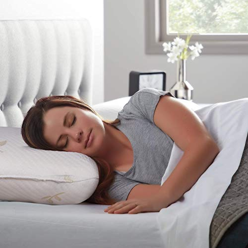 Sampri Cervical Contour Memory Foam Pillow for Sleeping,Orthopedic Pillow for Neck Pain,Contour Pillow Support for Back,Stomach,Side Sleepers