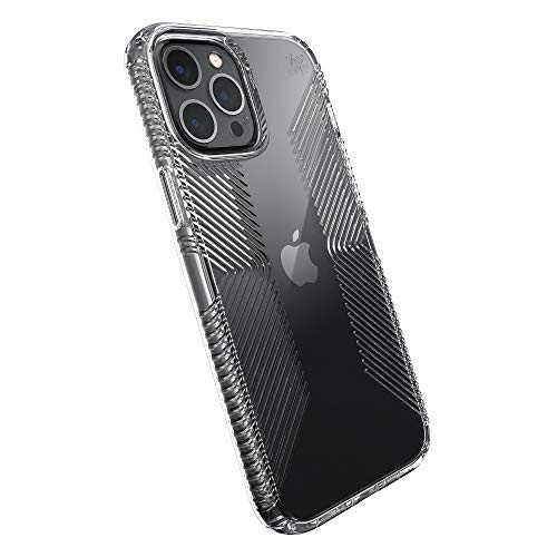 Speck Products Presidio Perfect-Clear Grip iPhone 12 Pro Max Case, Clear/Clear