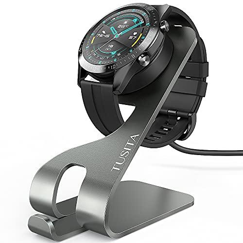 TUSITA Cargador Compatible con Huawei Watch GT, GT2, GT 2e, Honor Watch Magic Magic 2, Honor Watch Dream, Honor Watch GS Pro - Soporte de Carga de Aluminio USB 5ft 150cm - Reloj Inteligente Accesorios