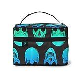 Rainbow Cool Skull neceser de maquillaje neceser de viaje accesorios organizador