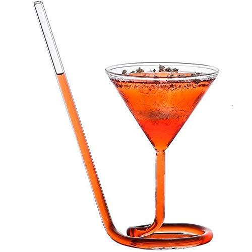 Paja Espiral Creativa Chupar Cóctel Encanto De Copa Champán Doble Puerta Ventosa Gotero Giratorio Copa De Vino para Bar-1_Pcs_110Mlcopas De Vino Tinto
