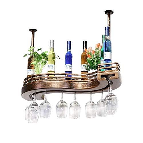 Estantería de vino Estante del vino, en forma de S soporte for botellas de vino ajustable, forjado titular de la copa de vino de hierro for las latas de almacenamiento en el hogar cremallera de bebida