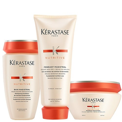 Kerastase Lot de soins nourrissants Nutritive Bain Magistral 250 ml - Fondant Magistral 200 ml - Masque Magistral 200 ml