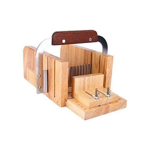 Samfox DIY Handgemaakte Zeep Tool Set, Houten Zeep brood Mold snijden zeep maken benodigdheden voor DIY Zeep