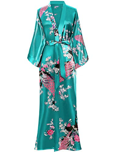 BABEYOND Women's Kimono Robe Long Robes with Peacock and...