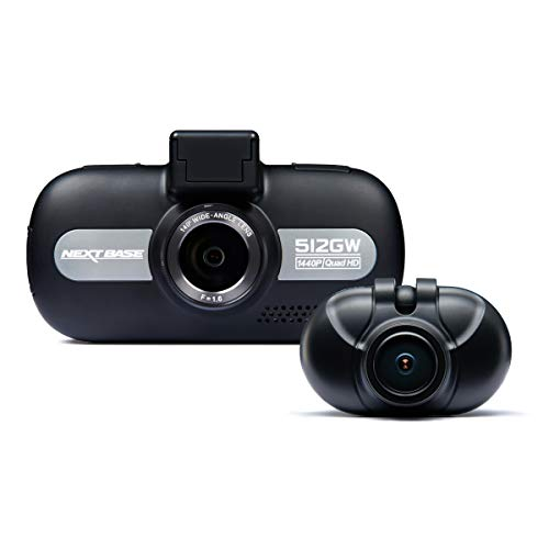 Nextbase 512GW and 512GWRC Bundle – Full 1440p HD In-Car DVR Dash Camera and Rear Cam - Front and Back Recording – WiFi and GPS – Anti-Glare Polarising Filter - Black Logo