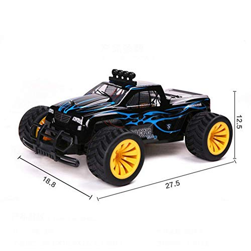 BIYLL Remote Control Car, 1/16 Scale High Speed RC Racing Cars 20 KM/H,2.4 GHz Off Road RC Truck, Rechargeable, Remote Controlled Car for Kids and Adults.27.518.812.5CM.