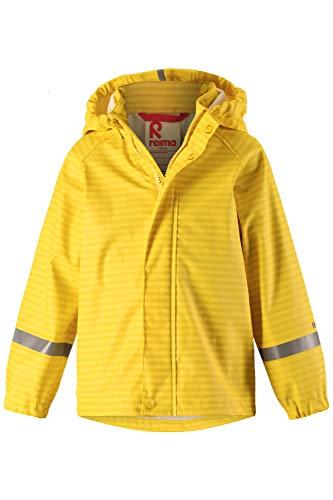Reima Kinder Regenjacke Vesi Vintage Gold – Regenjacke für Kinder mit Reißverschluss – Wasserdichte Kinder Regenjacke mit reflektierenden Details und Wassersäule mind. 8000mm – Größe 110