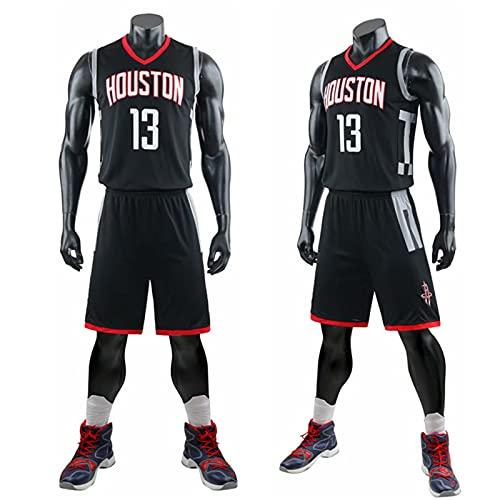 YXST Camiseta De Baloncesto NBA Cohetes # 13 Camisetas De Verano,CláSico Transpirable Chaleco De Secado RáPido,RéPlica De Jugador De Baloncesto,para JóVenes Sudadera,Black,XL