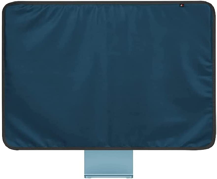 """WESAPPINCcomputer Monitor Dust Cover for iMac 24"""", PU Leather Protective Screen Dust Cover Sleeve with Rear Pocket Compatible with iMac 24 inch (24inch, Blue)"""