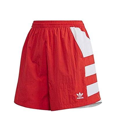 adidas Originals Women's Large Logo Shorts, Lush Red/White, M