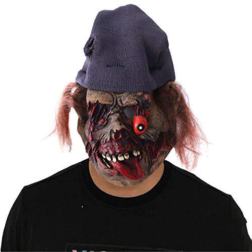 Herefun Careta Payaso Aterrador, Máscara de Halloween para Adultos, Máscara de Halloween de Terror Para la Cabeza