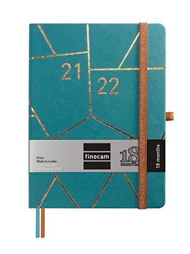 Finocam - Agenda Mínimal 18 Mesi 2021 2022 M5 - 140x190 mm Settimanale Geometric Multilingue