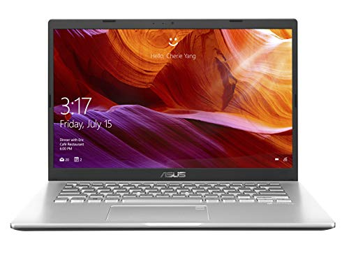 ASUS VivoBook 14 X409UA-EK361TS Intel Core i3 7th Gen 14-inch FHD Compact and Light Laptop (4GB RAM/256GB NVMe SSD/Windows 10/MS-Office 2019/Integrated Graphics/FP Reader/1.60 kg), Transparent Silver