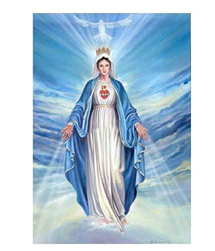 Diy Diamante Pintura Religiosa De La Virgen Regalo Para Punto De Cruz Decoración Del Hogar Iconos Serie Diamante Bordado Pintura 50X70Cm A