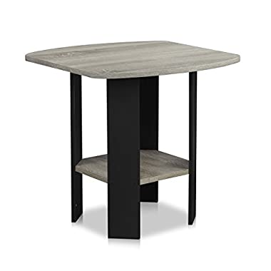 Furinno 11180GYW/BK Simple Design End/Side Table