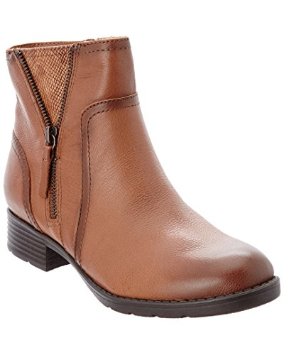 Comfortiva Val Tan Ankle Boots-Whiskey-7.5-M