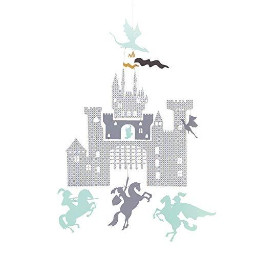 Little big room by Djeco-Mini mobile Château et dragons Arthur