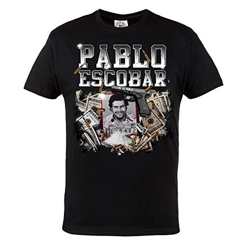 Rule Out T-Shirt para Hombre. Pablo Escobar. Narcos TV-Serie. Casual Wear (Talla Small)