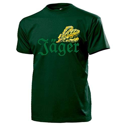 Jäger Eichenlaub BW Eiche Jagdschutz Gebirgsjäger Infanterie T Shirt #17281, Größe:M, Farbe:Grün