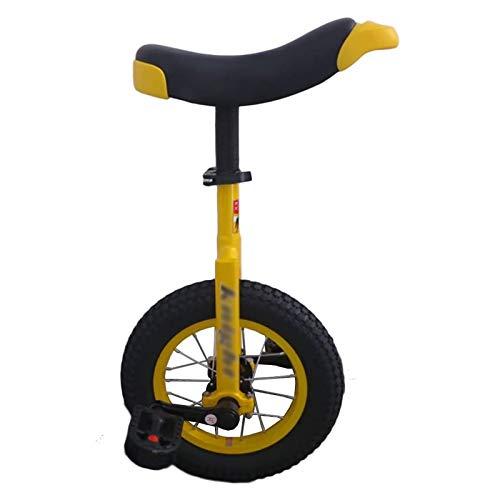 AHAI YU Pequeña Rueda de 12 Pulgadas Unicycle, para niños pequeños/niños/niños/niñas, Menores de 5 años de Edad, Equilibrio para Principiantes, Ejercicio Deportivo (Color : Yellow)