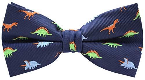 Carahere Mens Bow Ties Handmade Pre-Tied Pattern Bow Ties For Men (Dinosaur pattern-4)