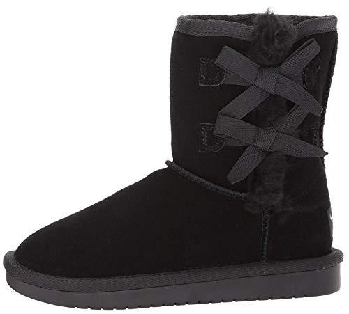 Koolaburra by UGG unisex child Victoria Short Fashion Boot, Black, 8 Toddler US