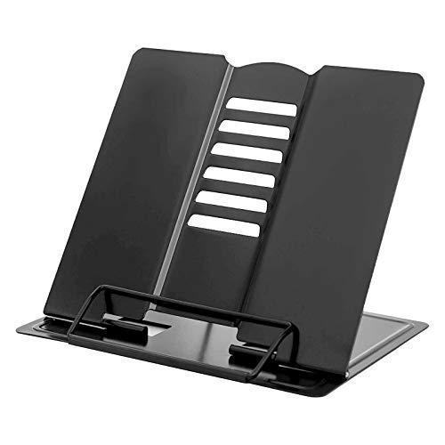 Soporte de Lectura Ajustable Libro de Recetas Atril para Libros Plegable Soporte de Libro Lectura Plegable Portátil para Revistas Documentos Libros de Cocina Tabletas para Escuela de Oficina en Casa