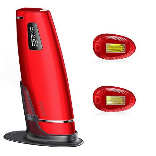FASÏZ Depiladora Luz Pulsada IPL Sistemas de Depilación de Luz Pulsada Permanente para Mujer/Hombre Cuerpo, Cara y Zonas Bikini, 600.000 Pulsos de Luz (Rojo)