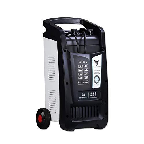 STAHLWERK KFZ Batterie-Ladegerät BAC-1000 ST 12/24V Modus mit bis zu 1000 Ah Batteriekapazität und 90 A Ladestrom, Batterie-Charger mit Starthilfefunktion, Booster und Timer, 7 Jahre Garantie