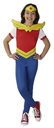 Super Hero Girls kinderkostuum Wonder Woman SHG, maat 9-10 jaar (140 cm)
