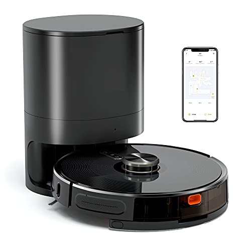 S31 Robot Vacuum and Mop, Automatic Dirt Disposal, Lidar Navigation, 3000Pa Suction Robotic Vacuum Cleaner with Mapping, 240 mins Runtime, Compatible with Alexa, Ideal for Pet Hair, Carpets