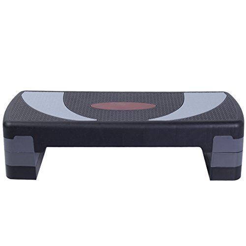 Fitness 30' Aerobic Step Exercise Stepper Platform Adjust 4'- 6'- 8' w/ Riser by SNC