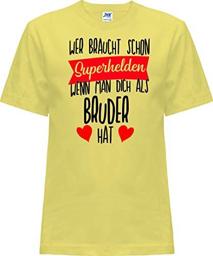 Kleckerliese Nicki T-shirt à manches courtes pour enfant Motif super-héros - Jaune - 0 ans