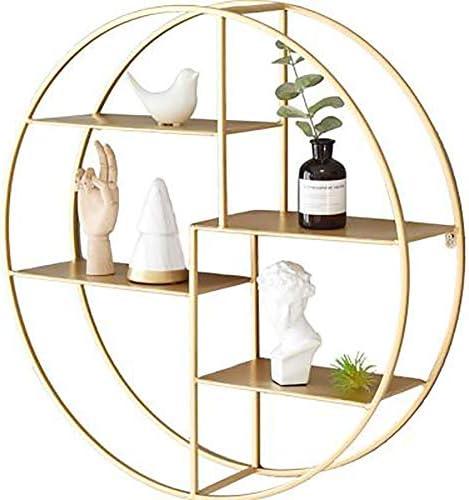 W&D Estanteria Redonda Estante Pared Dormitorio Salon Dorado ...