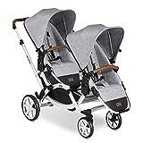 ABC Design Geschwisterkinderwagen Zoom – Zwillings- und Geschwisterwagen für Neugeborene & Babys...