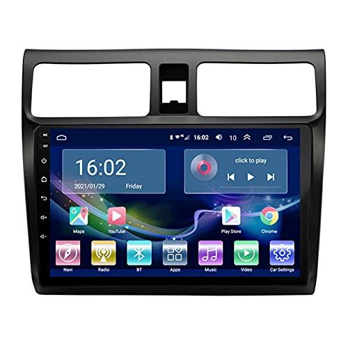 Estéreo Del Coche Radio De Navegación Por Satélite FM AM Reproductor Multimedia Android 10.0 Autoradio Pantalla Táctil Navegación GPS Para Suzuki SWIFT 2004-2010 Soporte Bluetooth (Color:WIFI 4G+64G)