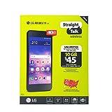 LG STLML212VCP Rebel L44C Straight Talk 4G LTE Prepaid Smartphone