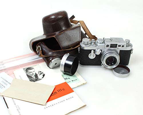 Leica IIIg FILM CAMERA with Elmar 5CM F2.8 Lens, Hood and Fitted CASE
