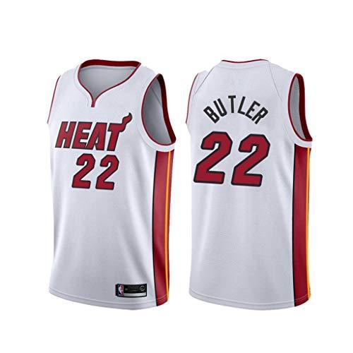 canottejerseyNBA Jimmy Butler - Miami Heat #22, Basket Jersey Maglia Canotta, Swingman Ricamata, Abbigliamento Sportivo (L, Bianco Association)