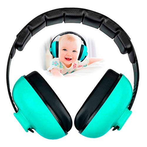 Baby Earmuffs Infant Hearing Protection Headphones Noise Canceling for Children & Infants Industry Leading Noise Reduction Rating Baby Ear Protection (Mint Green)