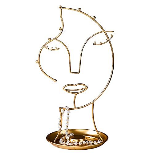Soporte de joyería Adornos de metal BRICOLAJE Joyas de exhibición de la exhibición de la exhibición de la exhibición de la exhibición del estante del almacenamiento Collar de escritorio Decoración de