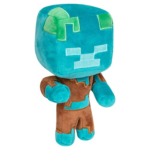 "JINX Minecraft Happy Explorer Drowned Plush Stuffed Toy, Multi-Colored, 7"" Tall"
